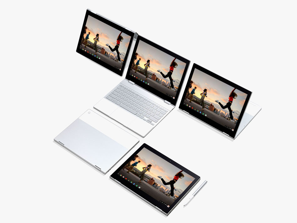 Google Pixelbook Chromebook طراحی
