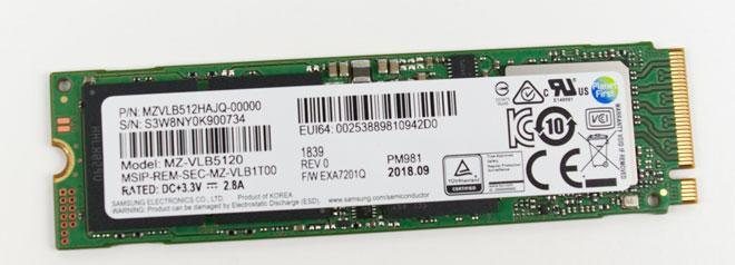 Fujitsu Celsius H980 SSD