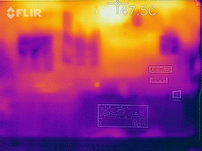 Fujitsu Celsius H980 حرارات
